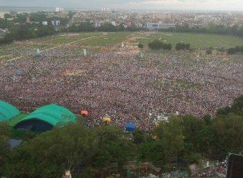 பா.ஜ.க-வுக்கு எதிராக பிரமாண்ட பேரணி...! கெத்து காட்டிய லாலு பிரசாத் யாதவ் #Patna