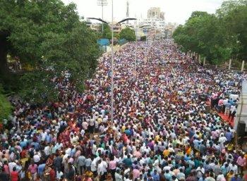 சென்னையை அதிரவைத்த அரசு ஊழியர்கள் ஆர்ப்பாட்டம்!