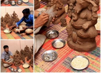 இந்த சதுர்த்திக்கு புதிதாக வருகிறார் 'விதை விநாயகர்'..! - கோவை இளைஞரின் முயற்சி