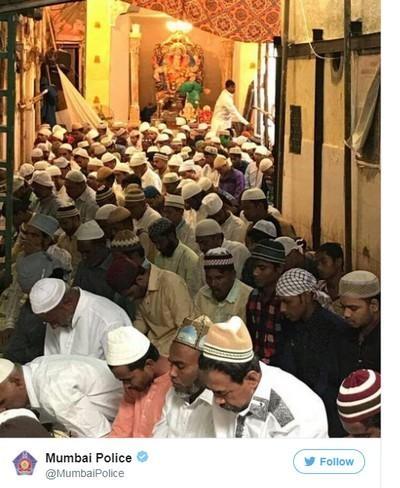 மும்பை போலீஸ் பகிர்ந்த பண்டிகை கால புகைப்படம்