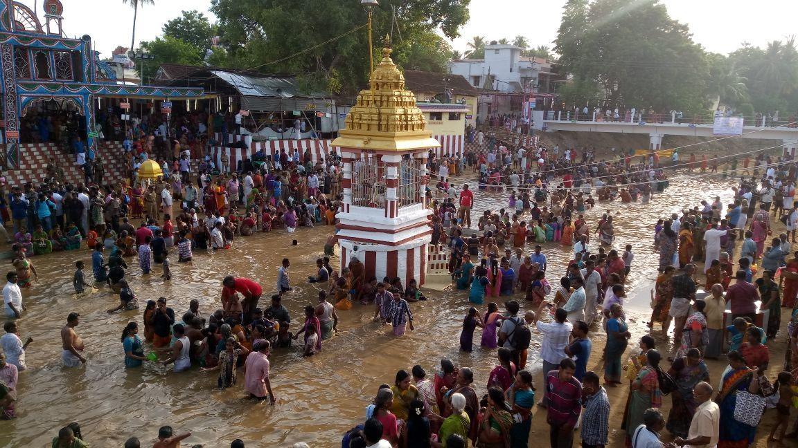 காவிரி புஷ்கரத் திருவிழா தொடங்கியது