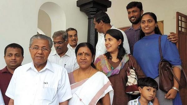 பினராயி விஜயனின் குடும்பம்