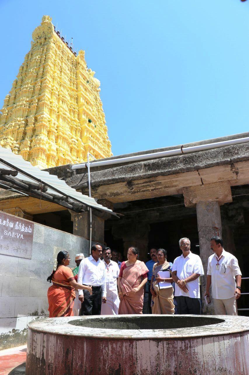 ராமேஸ்வரம் கோயிலில் அறநிலையத்துறை ஆணையர் ஆய்வு