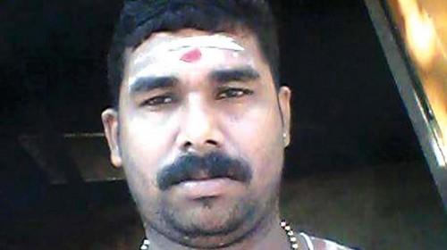ஈழுவ வகுப்பு அர்ச்சகர் சுதிர் குமார்
