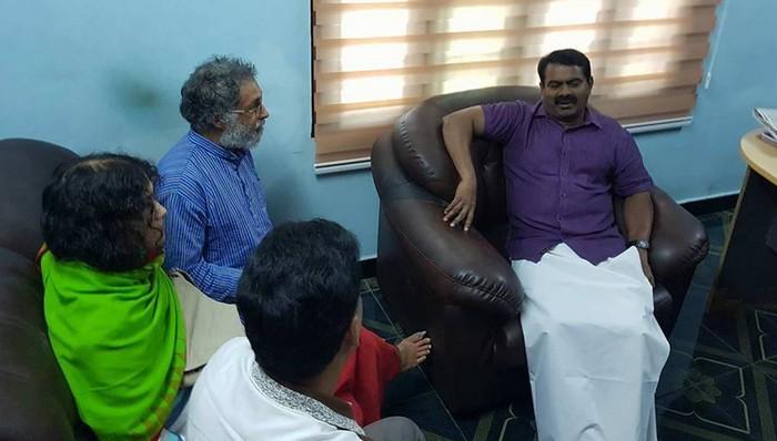 சீமானை சந்தித்து உரையாடிய இரோம் சர்மிளா மற்றும் அவரது கணவர்