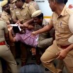 சென்னையில் அனிதா மரணத்துக்கு நீதி கேட்டுப் போராடியவர்கள் மீது போலீஸ் தடியடி!