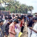 அனிதா மரணத்துக்கு நீதிகேட்டு காஞ்சிபுரத்தில் கல்லூரி மாணவர்கள் போராட்டம்!