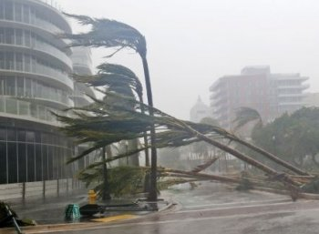 ஃபுளோரிடாவைக் கதறவிட்ட இர்மா புயல்...கடல் நீரை உள்வாங்கியது எப்படி? #HurricaneIrma