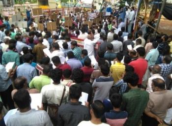 மியான்மர் முஸ்லிம்களுக்கு ஆதரவாக நாகர்கோவிலில் ஆர்ப்பாட்டம்