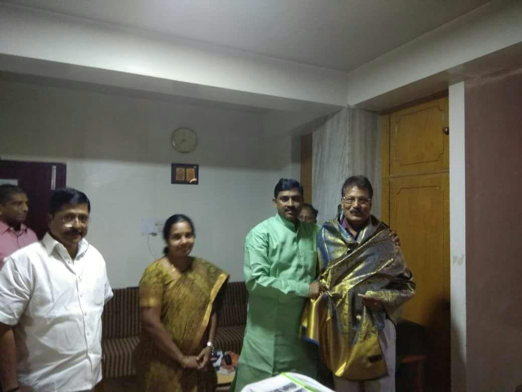 கிருஷ்ணசாமியை சந்தித்த முரளிதர் ராவ்