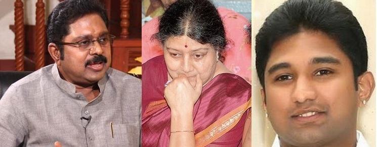 டி.டி.வி.தினகரன், சசிகலா, விவேக்