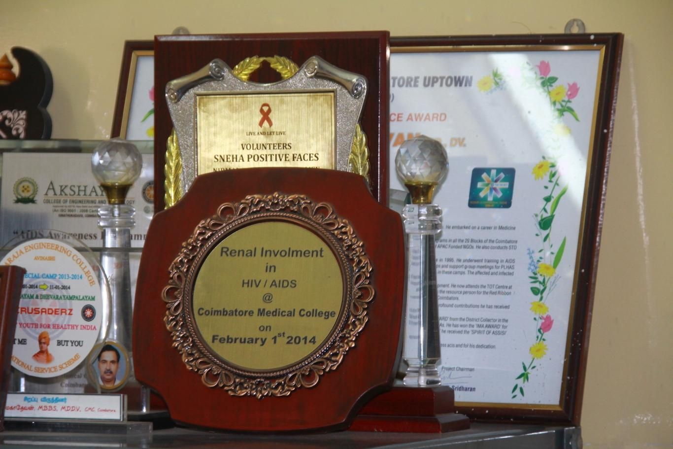 டாக்டர் மகாதேவன் பெற்ற விருதுகள்
