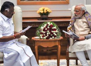 நாளை பிரதமர் நரேந்திர மோடியை சந்திக்கிறார் ஓ.பன்னீர்செல்வம்!