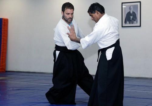 அகிடோ பயிற்சியில் ராகுல்காந்தி