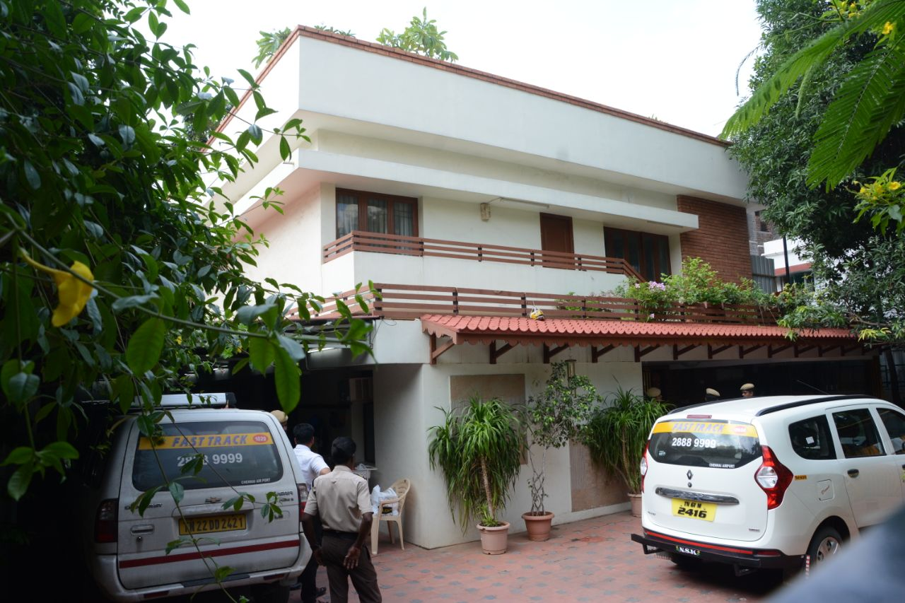 சென்னை தி.நகரில் உள்ள இளவரசி மகள் கிருஷ்ணப்ரியா வீடு