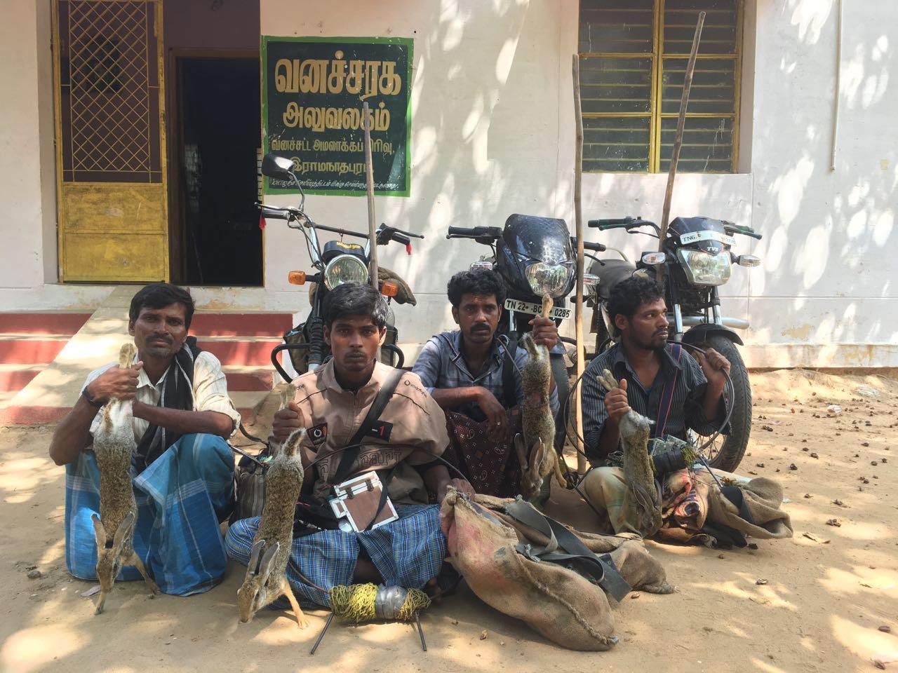 ராமநாதபுரம் அருகே முயல் வேட்டையாடிய 4 பேர் கைது