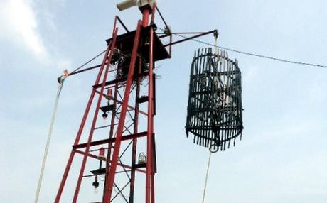 number 3 storm warning cage in thoothukudi port