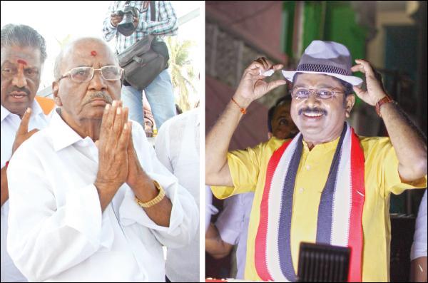 ஆர்.கே.நகர்  தொகுதியில்  மதுசூதனன், டி.டி.வி.தினகரன்