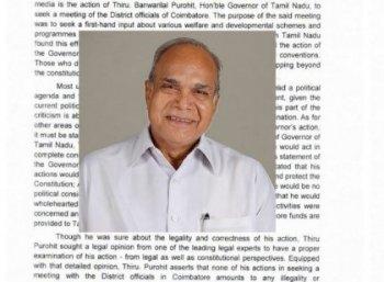 அரசு விதிகளை மீறினாரா ஆளுநர்... ராஜ் பவன் தரும் பதில் என்ன?