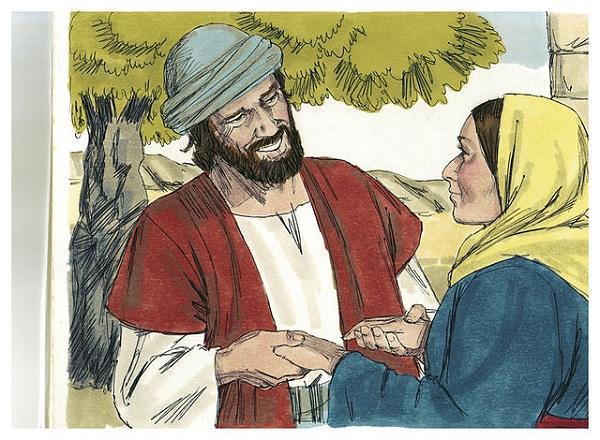 விசுவாசித்த பெண்ணும் இயேசுவும்