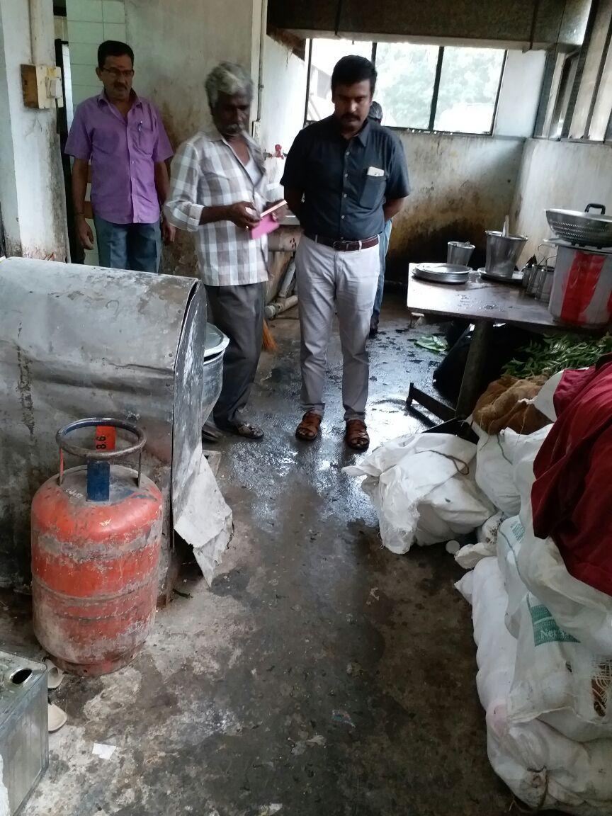 மாமண்டூர் மோட்டலில் அதிகாரிகள் ஆய்வு