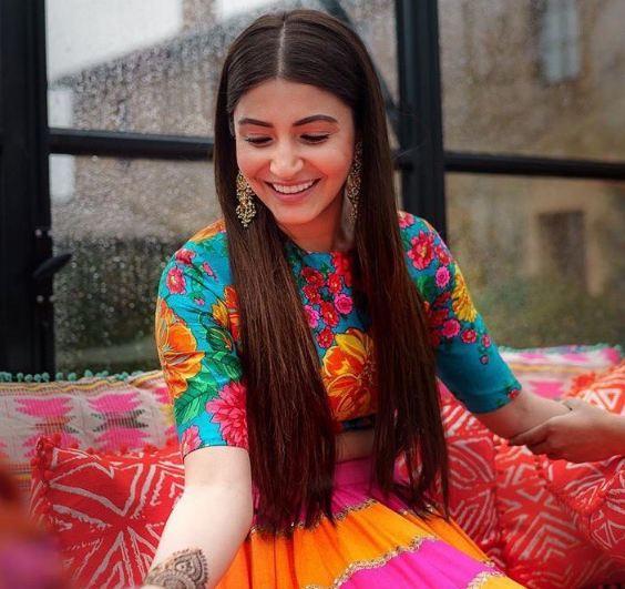 Anushka Mehendi Dress