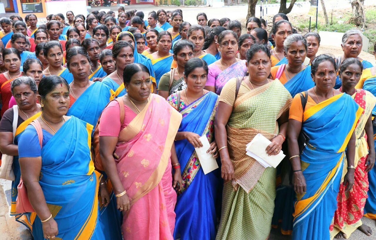 ராமநாதபுரத்தில் அங்கன்வாடி பணியாளர்கள் கோரிக்கை