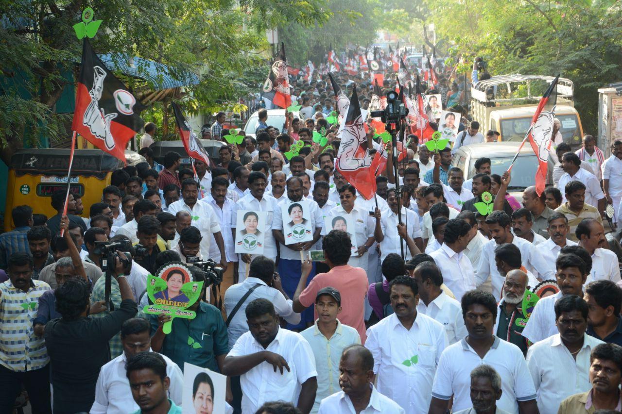ஆர்.கே.நகர் தேர்தல் பிராச்சாரம்