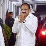 சென்னை வந்தார் துணைக் குடியரசு தலைவர்! - நேரில் சென்று வரவேற்ற முதல்வர்