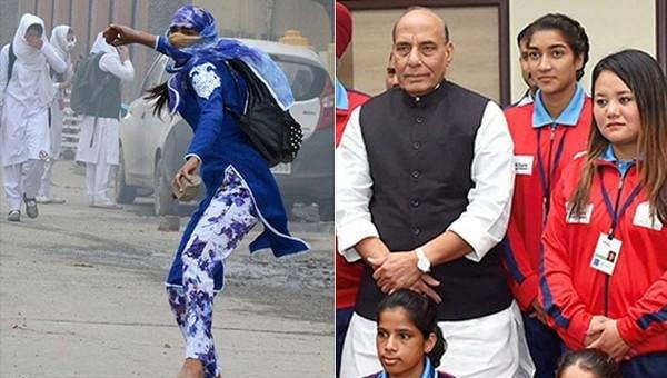 காஷ்மீர் கலவரத்தில் கல்லெறிந்த பெண் இன்று கால்பந்து அணி கேப்டன்!