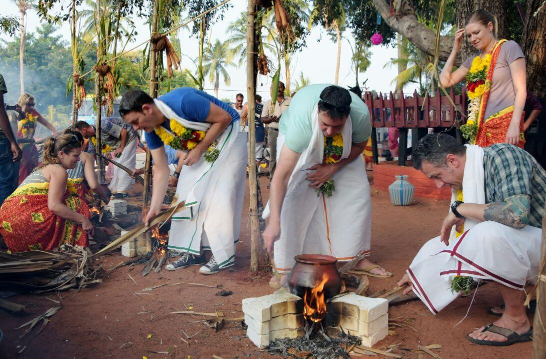 pongal made foreginers in thoothukudi