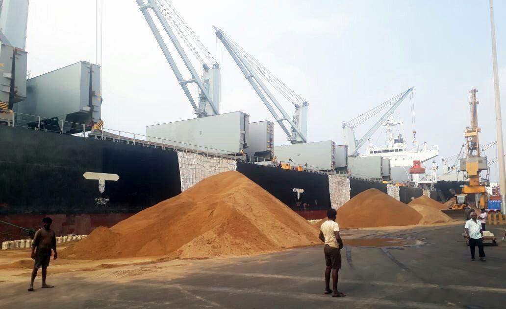 Malesiya sand import in thoothukudi port
