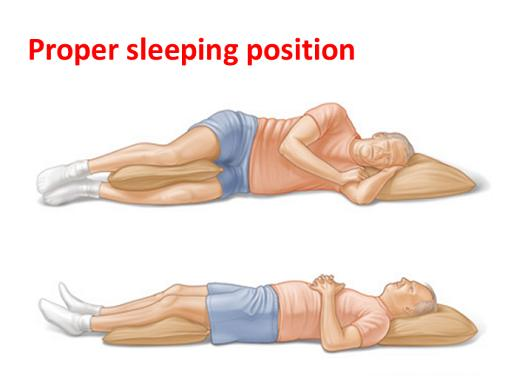 Proper sleeping position