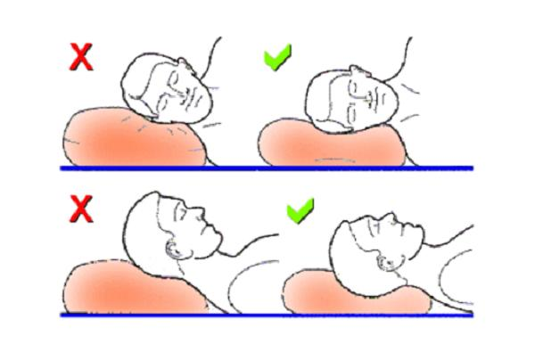 Correct pillow position