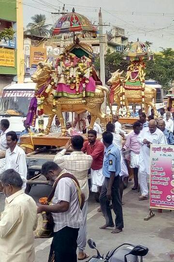 ராமேஸ்வரத்தில் நடந்த அஷ்டமி சப்பர வீதிஉலா