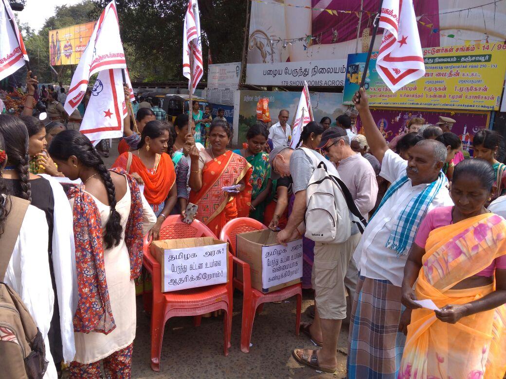 மாதர் சங்கத்தினர் வாக்கெடுப்பு: பஸ் கட்டண உயர்வுக்கு எதிராக வாக்களித்த வெளிநாட்டினர்!