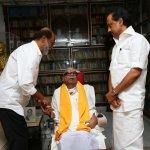 `கருணாநிதியிடம் ஆசி பெற்றேன்!' - கோபாலபுரத்தில் ரஜினி