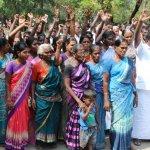 உப்பூர் அனல்மின் திட்டத்தை எதிர்த்து கிராம மக்கள் முற்றுகைப் போராட்டம்