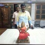 ராஜபாளையத்தில் 20 கிலோ எடையுள்ள ஐம்பொன் சிலை கண்டெடுப்பு