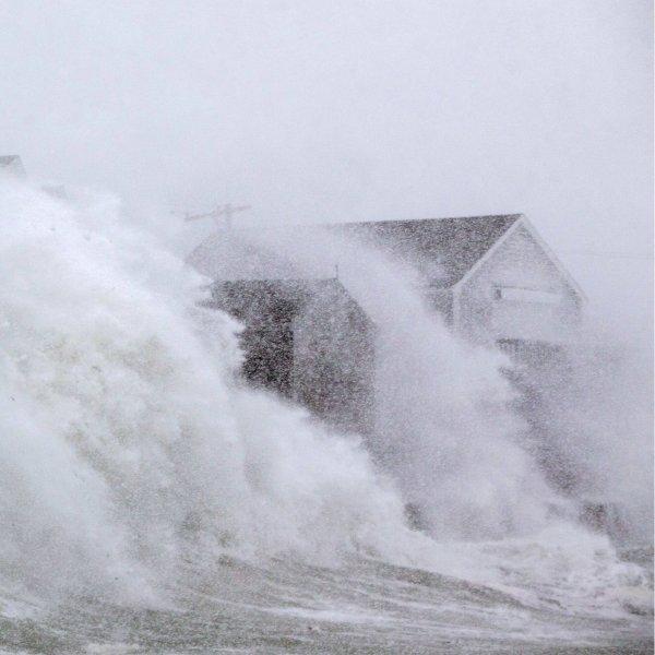 அமெரிக்காவை ஸ்தம்பிக்க வைத்த பனிப்பொழிவு சூறாவளி #BombCyclone