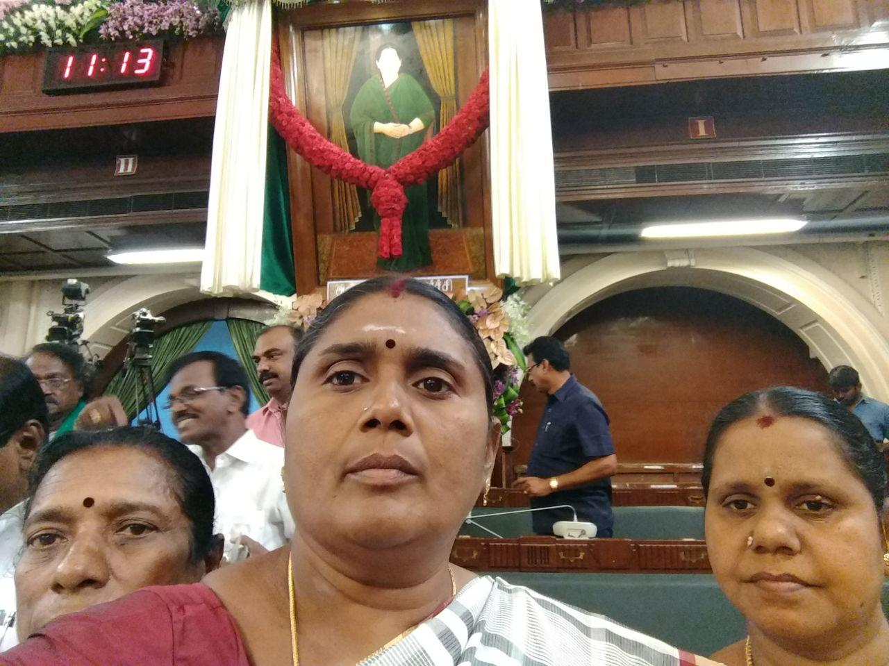 selfi at assembly hall
