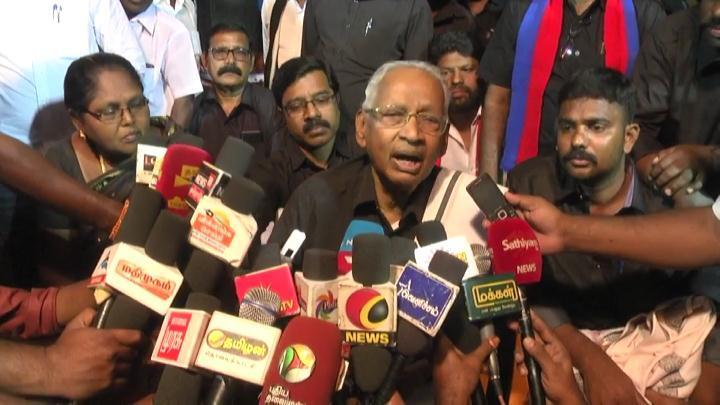 திராவிடர் கழகத் தலைவர் கி.வீரமணி