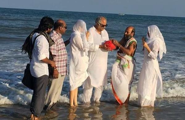 நடிகை ஸ்ரீதேவி அஸ்தி கரைப்பு