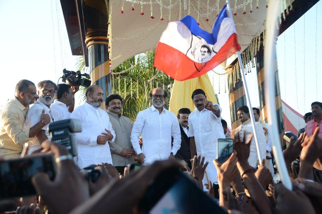 ரஜினி - எம்.ஜி.ஆர் சிலை திறப்பு விழா
