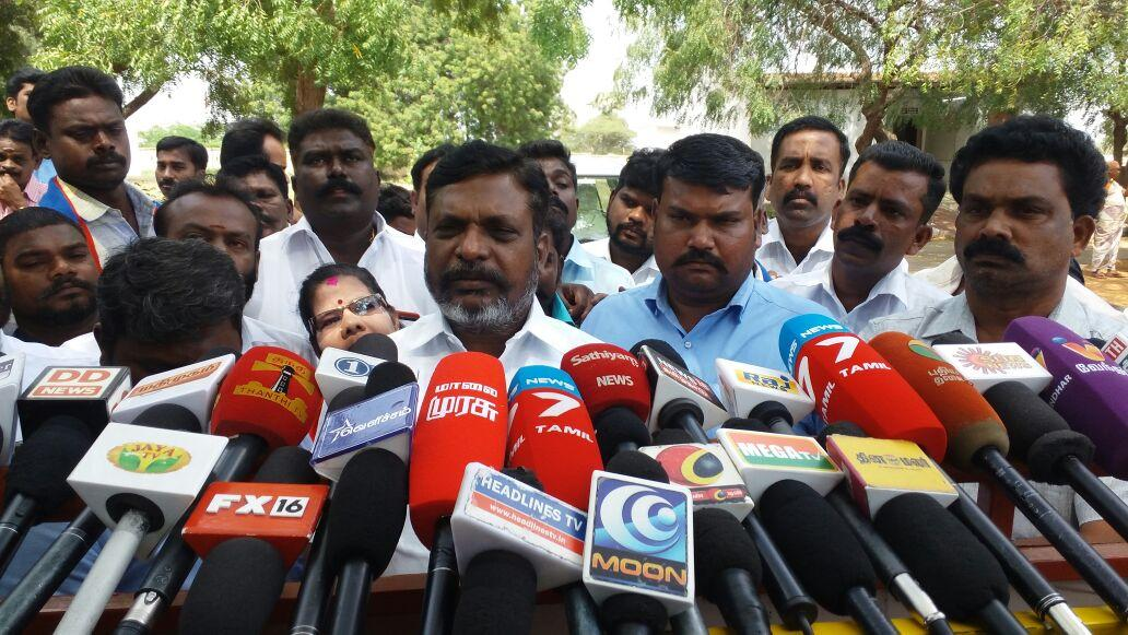 Thirumavalavan meet to press