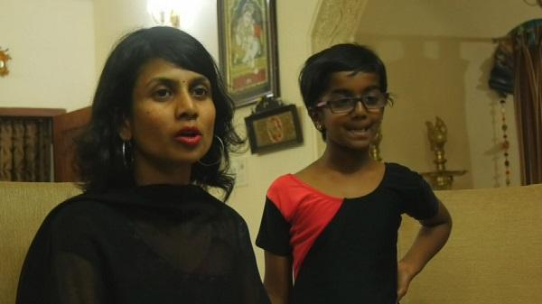 தாயுடன் சிறுமி பிரிஷா