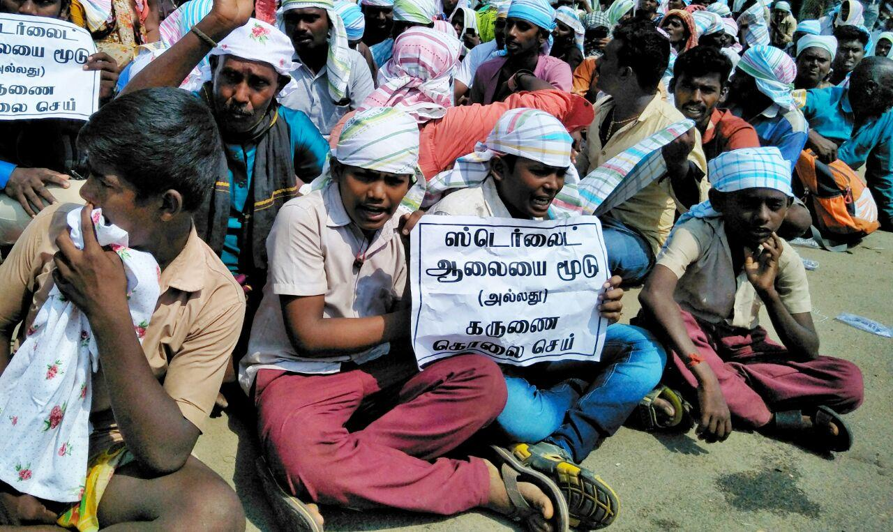 protest against sterlite