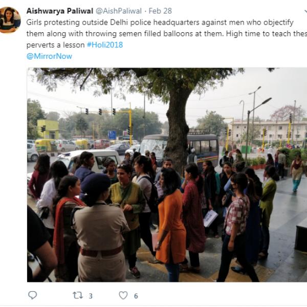 ''ஹோலி பெயரில் விந்தணு பலூன் வீசியவர்களை விரட்டுங்கள்!'' - ட்விட்டரில் கொந்தளித்த பெண்கள்