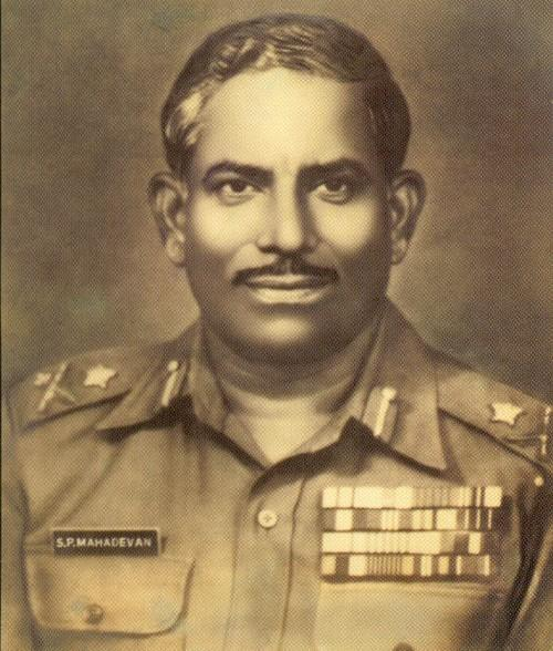 காஷ்மீருக்காக போரிட்ட மேஜர் ஜெனரல் மகாதேவன்