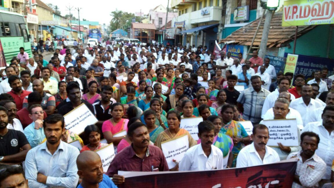 rally against sterlite